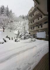 山形敬寿園の冬景色